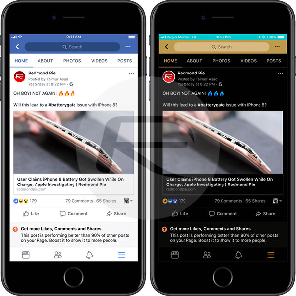 facebook dark mode novità osatech